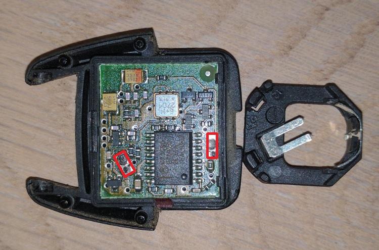 Opel car key battery holder repair